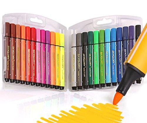 Kinder waschbar Wasser Farbe Stift Filzstift Pen Aquarell Färbung Zeichnung Stifte sortierte Farben Marker Stifte, Packung von 24