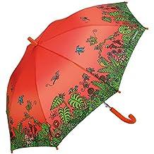 Paraguas Kukuxumusu Infantil Jardín Rojo