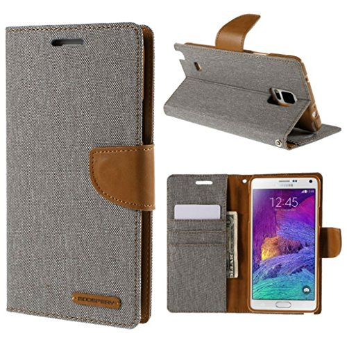 KrishTech Synthetic Leather Canvas Dairy Flip Cover For LeEco Le 2 / Letv Le 2 - Grey