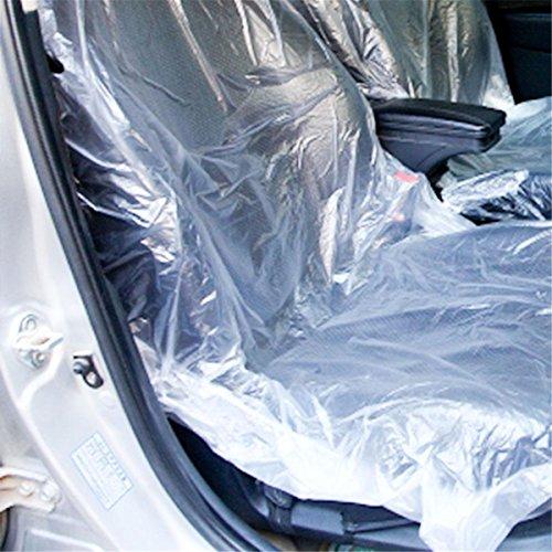 ECYC Coprisedile in Plastica Monouso per Auto 50 Pezz