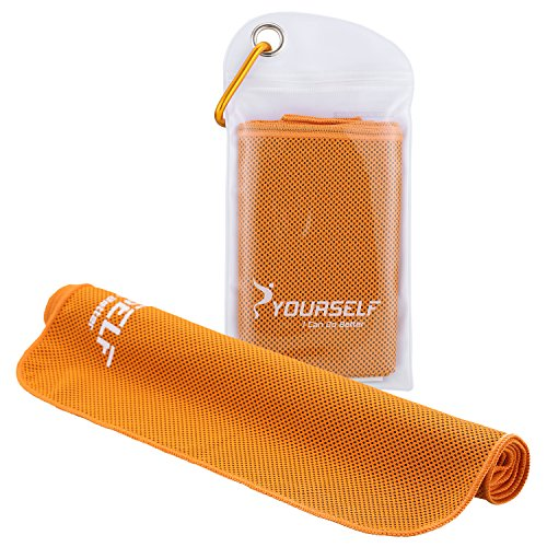 Syourself Serviette de Refroidissement du Cou pour soulagement instantané pour Bowling Fitness Yoga Voyage Camping Golf Football et Sports de Plein air 100 x 30cm