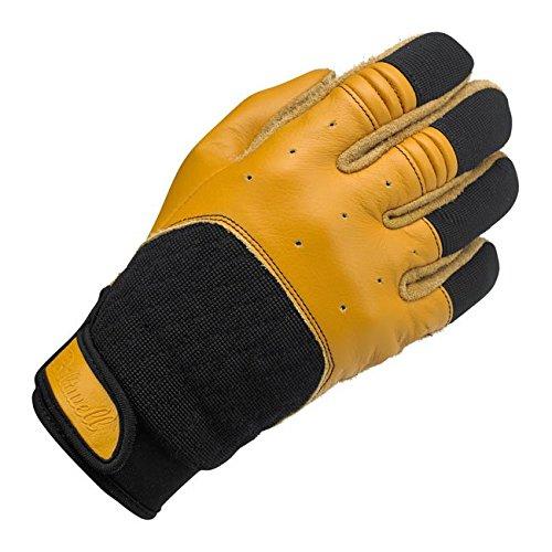 Handschuhe Leder Bantam schwarze/Gelbe Biltwell Herren Biker Biker Custom XS Nero / giallo