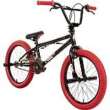deTOX 20' BMX Freestyle Kinder Anfänger ab 130 cm, 7 J, Farbe:schwarz/rot