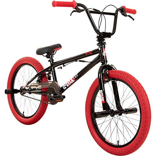 deTOX 20' BMX Freestyle Kinder Neu Anfänger ab 130 cm, 7 J, Farbe:schwarz/rot