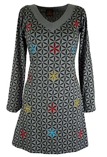 Hippie Minikleid Boho chic, Tunika / Kurze Kleider Grau
