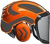 Protos Sicherheitshelm Integral Forest Gehörschutz, Farbe:orange/schwarz, Ausstattung:feines Visier
