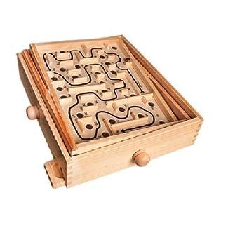 Generic.. G MAZ puzzle Jeu Ooden Labyr Moving Maze GAM classique en bois Labyrinthe