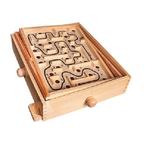 Generic. inth beweglichen MAZ Classic Holz Labyrinth ooden labyrin Puzzle-Spiel N-ten Bewegung zzle G Labyrinth.