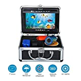 "Eyoyo 7"" TFT LCD Monitor Fishing Camera Portable Underwater Fish Finder 30M HD 1000TVL with 12 Infrared Lights for Ocean,Ice,Lake,Boat,Kayak Fishing"