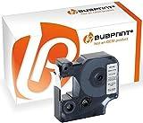 Bubprint Schriftband kompatibel für Dymo 45022 S0720620 für Labelmanager 100 120P 150 160 210D 220P 260P 280 300 350 360D 400 420P 450 500TS 12mm x 7m