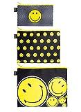 LOQI Artist Smiley Spiral, Dots, Spots Zip Pockets Personalausweishülle, 32 cm,...