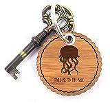 Mr. & Mrs. Panda Rundwelle Schlüsselanhänger Qualle - Qualle, Meer Schlüsselanhänger, Anhänger, Taschenanhänger, Glücksbringer, Schlüsselband