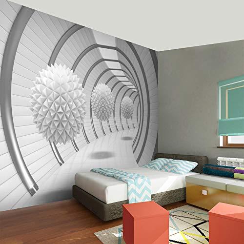 Fototapete 3D - Weiß 396 x 280 cm Vlies Wand Tapete Wohnzimmer ...