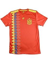 Camiseta Adulto Réplica de España. Producto Oficial Licenciado Mundial  Rusia 2018. (Rojo 654a50276d0d4