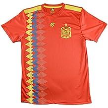 LICECIA DE LA REAL FEDERACION DE FUTBOL ESPAÑOLA Camiseta Infantil España. Producto Oficial Licenciado Mundial