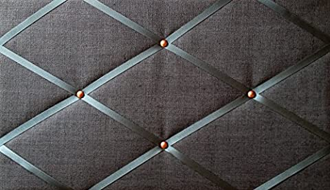 Tableaux d'affichage, Classic Taille 48x 30cm en lin gris foncé, cuivre, Détail Memo Planches, Bulletin Boards, Message, se Suspend