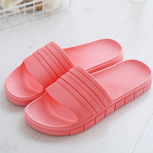 DogHaccd pantofole,Il bagno pantofole donne indoor usura estate soggiorno home anti-slittamento bagno spesso uomini di plastica le coppie home pantofole Il rosso1