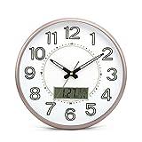 Clocks and watches-YL Nostalgische Wanduhr- Uhr Wohnzimmer Wanduhr Leuchtende Dekoration Quarzuhr Stumm Schlafzimmer Hängenden Tisch(Farbe : D, Größe : Calendar Models)