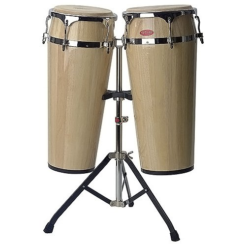 Stagg 25013369 LTD-N Latin Drums 25,4 cm (10 Zoll)/27,94 cm (11 Zoll) inkl. Stand natural