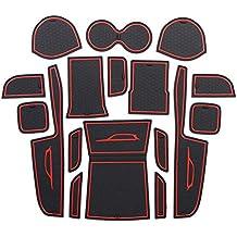 LFOTPP Vitara Slot Pad Alfombra de Goma Car Styling Interior Alfombrillas Antideslizantes Estera del Coche Rojo