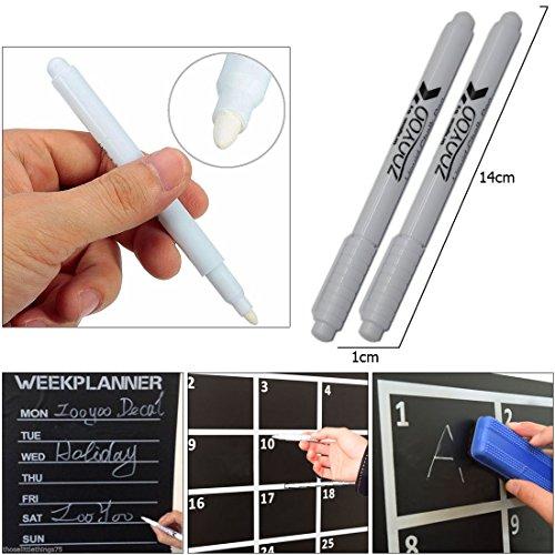 JJOnlineStore-JJOnlineStore-Glas weiß Flüssigkreide-Stift Marker Windows Kreidetafel Tafel Art Rund 4mm NIP -