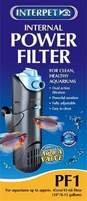 Interpet Internal Aquarium Power Filter for Fish Tanks