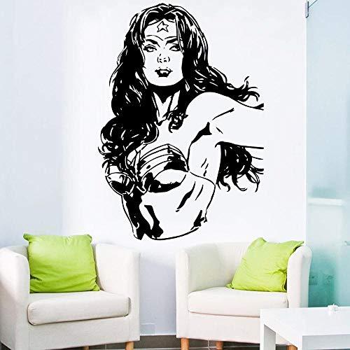nyl Aufkleber Wonder Woman Cartoon DC Comic Für Kinder Spielen Schlafzimmer Wohnzimmer Dekor Haus DIY Design Poster 57 * 81 cm ()