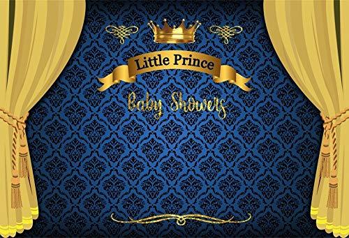 LFEEY Hintergrund für Babyparty, 12,7 x 91,4 cm, Motiv Kleiner Prinz, für Partys, Fotografie, Hintergrund, Stoff, Vorhang, Videovorhänge, Fotostudio-Requisiten.