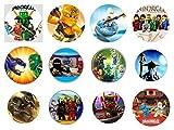 12 Stück Muffinaufleger Muffinfoto Aufleger Foto Bild Ninjago (46) rund ca. 6 cm *NEU*OVP*