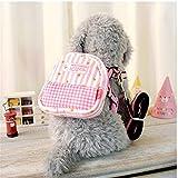 Zaino per animali domestici Fascia da stampa portatile regolabile estraibile e rimovibile , pink , trumpets