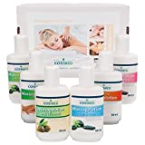 Probierset Massagelotion, Massage Lotion, Physiotherapie, 6 Flaschen à 50 ml