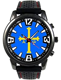 Asturias España Reloj para hombre con correa de silicona
