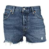 Levis Jeansshorts Damen 501 Short 32317-0073 Back to Your Heart Mittelblau, Hosengröße:27