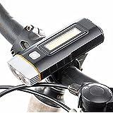 KOBWA LED-cheinwerfer Fahrrad Fahrradbeleuchtung LED Fahrradlampe,USB Wiederaufladbar Fahrradlicht Frontlicht und Rücklicht Fahrradlampen.