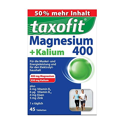 Taxofit Magnesium 400+kal 45 stk