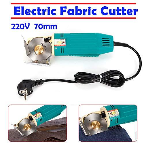 SENDERPICK Elektrische Stoff Rollschneider, Professionelle Industrielle Tuch Schneidemaschine,220V 170W 70mm Blade Electric Round Knife Cloth Cutter