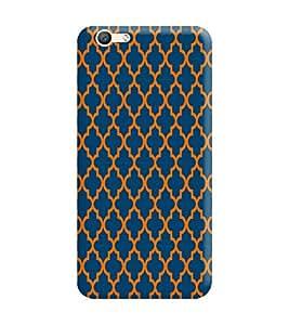 Vivo V5 Plus Back Cover designer 3D Hard Mobile Case printed Cover for vivo v5 plus by Gismo - Abstract pattern Theme print blue
