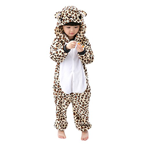 Pyjamas Homewear Cosplay Kostüm Sleepsuit Lounge Wear - Hstyle Mädchen Kinder Pyjamas Cartoon Cosplay-Bekleidung Jumpsuit Homewear Leopard