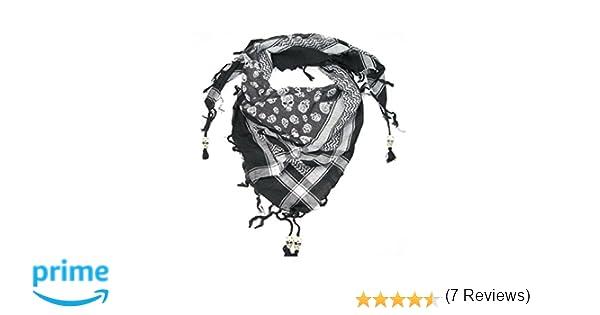 89c5d53d547d LOVARZI Echarpe tête de mort en coton avec perles tête de mort - Foulard  original pour homme ou femme  Amazon.fr  Vêtements et accessoires