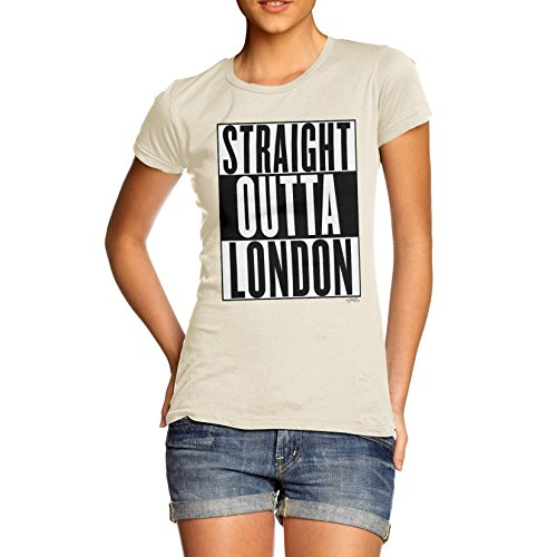 Damen Straight Outta London T-Shirt Elfenbein