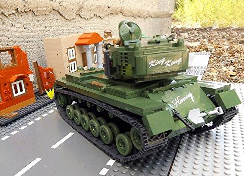 ★ World of Tanks 3008 – Bausteine US ARMY Panzer, 525 Teile, schwerer Kampfpanzer M46 PATTON, inkl. custom US ARMY Soldaten aus original Lego© Teilen ★ - 5