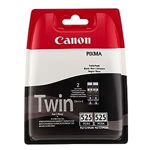 Canon PGI-525 Cartouche d'encre d'origine Pack de 2 Noir