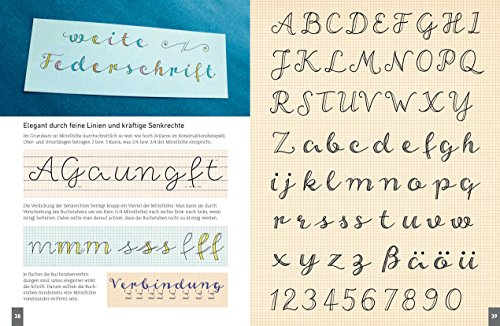 Handlettering. Die 33 schönsten Alphabete mit Rahmen, Ornamenten und Bordüren: Das praktische Vorlagenbuch. Tipps zur Gestaltung von Karten, Anhängern und Tafeln - 2