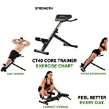 Tunturi CT40 Core Trainer, schwarz, 1 - 3