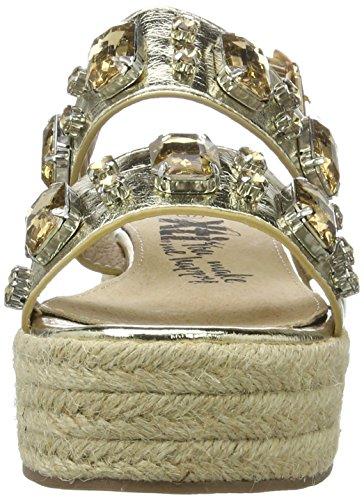 Xti Gold Metallic Ladies Sandals ., chaussures compensées femme Doré