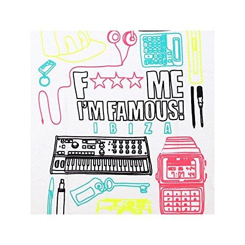 F*** Me I'm Famous: Canotta Uomo Retro Neon 2 Bianco