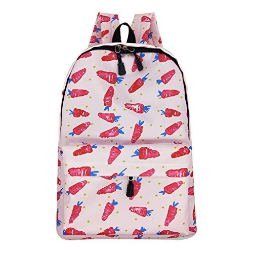 gewicht Rucksack Nylon Drucken Tasche Wasserdichter Campus Student Schultasche Mini Rucksack Lässig Reise Daypacks Ausflug Reise Tasche ()
