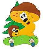 Unbekannt Garderobehaken - Pilz Bäume - Holz Kinder 2 Haken Kinderzimmer Garderobe Wandhaken Kleiderhaken grün