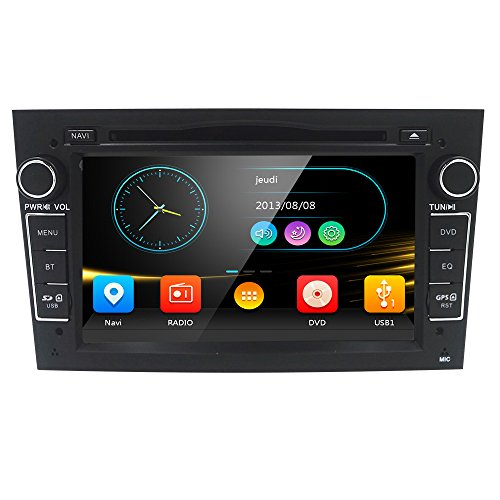 Stereo Din Car Double Navigation (7 inch Car Audio Stereo Double Din In Dash for Opel Vauxhall Corsa Vectra Astra Support GPS Navigation DVD Player Bluetooth Car Radio USB SD Cam-In)