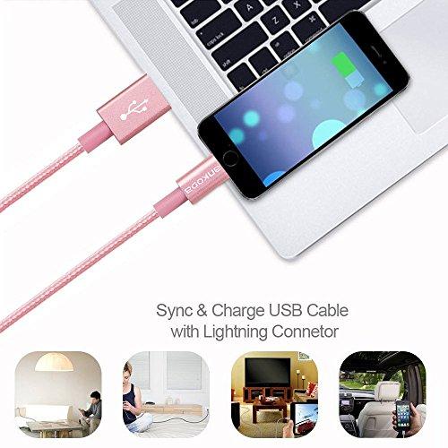 Ankoda® Cavo Lightning, [pacchi 1m/2m/3m] durevole e veloce di ricarica USB cavo di sincronizzazione e ricarica iPhone per iPhone 76Plus 7PLUS 6S 6S Plus 65s 5C 5, iPad Pro Air, iP